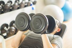 Men at the gym Exercise stock photo