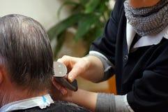 Men haircut at hairdresser royalty free stock photos