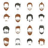 Men Hairstyle Icons Set Royalty Free Stock Photography