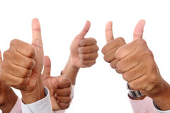Men hand's with thumb up Stock Images