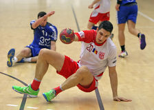 Men Handball Action Royalty Free Stock Photos