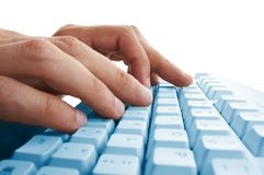 Men hands typing Royalty Free Stock Photography