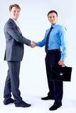 Men handshaking Stock Photo