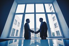 Men handshaking Stock Photography