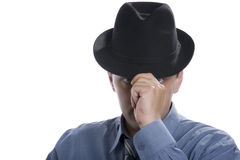 Men on hat Stock Photo