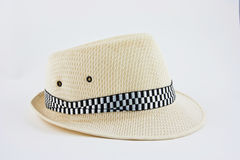 Men hat. Over white background Royalty Free Stock Photo