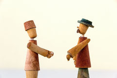 Men with hats Royalty Free Stock Photo