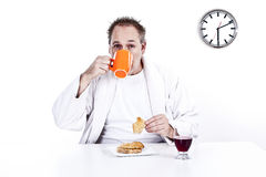 Men having breakfast Stock Photos