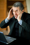 Men having finance trouble. Royalty Free Stock Image