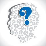 Men head with question mark Royalty Free Stock Photo