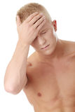 Men with headache Royalty Free Stock Photo