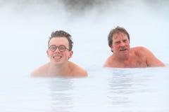 Men in healing waters Stock Image