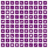 100 men health icons set grunge purple. 100 men health icons set in grunge style purple color isolated on white background vector illustration royalty free illustration