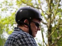 Men with helmet Stock Photography