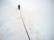 Men Hiking glacier Hvannadalshnukur summit in Iceland mountain landscape Vatnajokull park 4 Royalty Free Stock Images