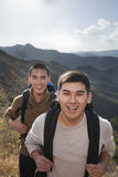 Men hiking, portrait Royalty Free Stock Images