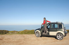 Men with his 4x4 car Stock Image