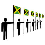 Men holding Jamaican flags Royalty Free Stock Image