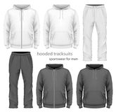 Men hooded tracksuit. Stock Photo