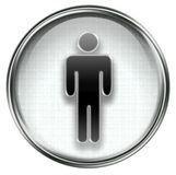 Men icon grey Royalty Free Stock Image