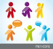 Men icons Stock Photos