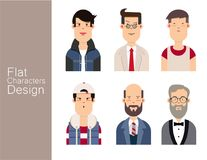 Men illustration avatar Vector set Stock Images