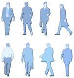 Men illustrations. Lots of illustrations of business men Stock Image