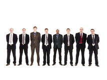 Men In A Row Stock Photo