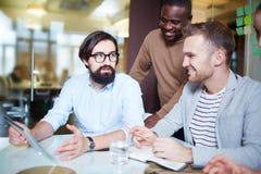 Men interacting Royalty Free Stock Photo