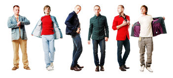 Men in a  jackets. 6 men in a  jackets Stock Photos