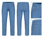 Men jeans. Photo-realistic vector illustration Stock Photos