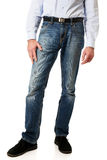 Men in jeans trousers Stock Image