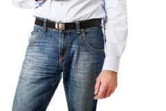 Men in jeans trousers Royalty Free Stock Photos