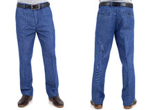 Men in jeans trousers Royalty Free Stock Photography