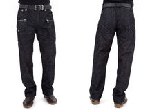 Men in jeans trousers Royalty Free Stock Image