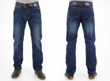 Men in jeans trousers Stock Photography
