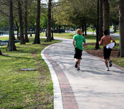 Men jogging Stock Photo