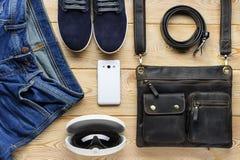 Men& joven x27; accesorios de s Fotos de archivo libres de regalías