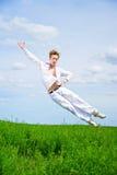 Men jump Royalty Free Stock Photo