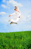 Men jump Stock Images