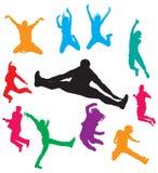 Men jumping vector illustration