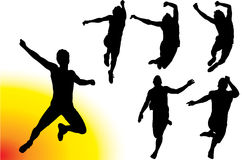 Men Jumping Vector Royalty Free Stock Photo