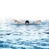 Men kan niet zwemmen Royalty-vrije Stock Foto