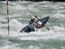 Men on a kayak royalty free stock image