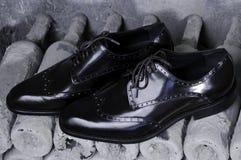 Men& x27; klassiska läderskor för s, handgjorda skor Royaltyfri Fotografi