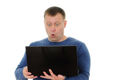 Men with laptop Royalty Free Stock Photo