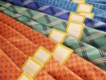 Men& x27; lazos de seda modernos de s Fotografía de archivo