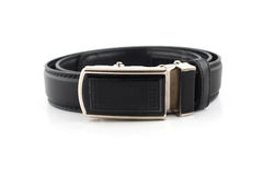 Men leather belt on white Royalty Free Stock Photography