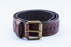 Men leather belt Royalty Free Stock Photos