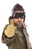 Men with leather helmet Stock Photo